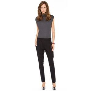 Helmut Lang Black Side Zip Cross Front Pants